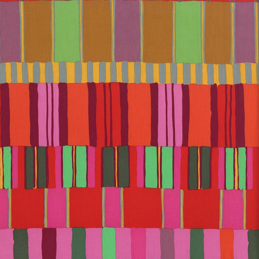Kaffe Fassett Artisan: Layered Stripe - Red