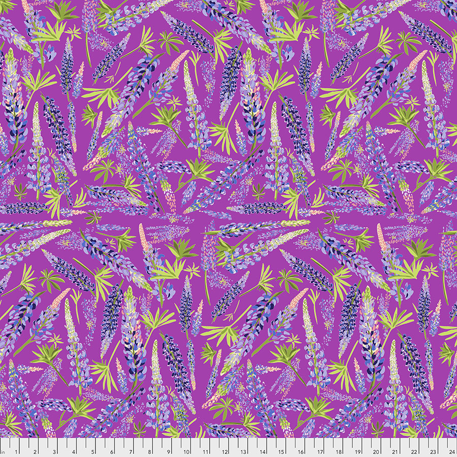 Calico Horses - Lupine Valley<br>Magenta - PWLT006