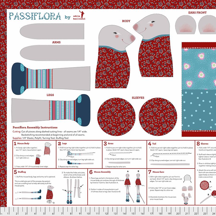 Winter Games Passiflora Panel - Multi
