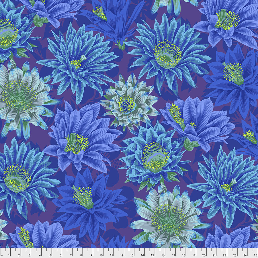 Kaffe Fassett Collective Cactus Flower - Blue