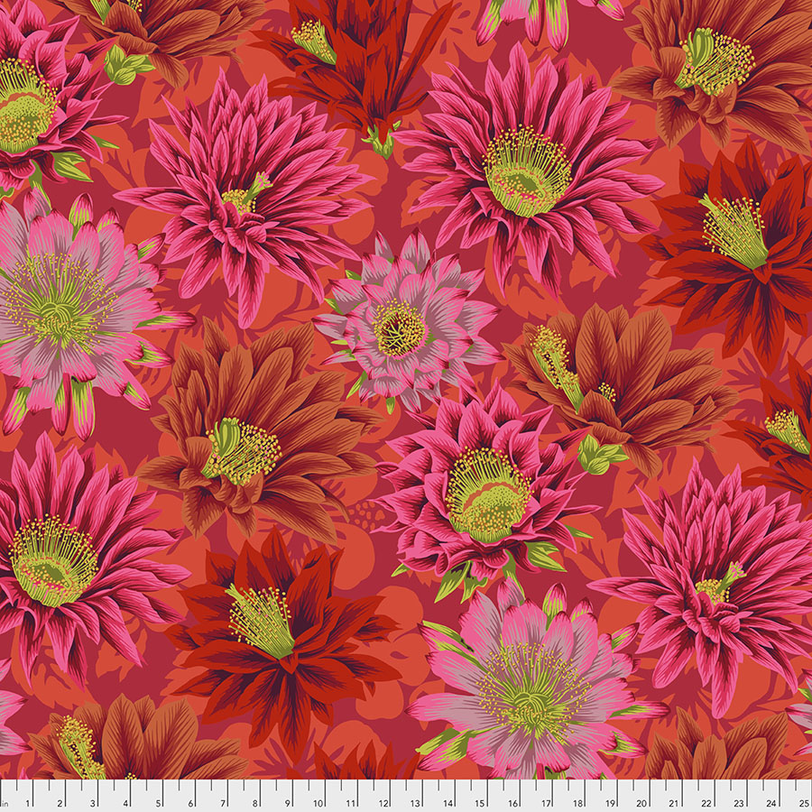 Free Spirit Kaffe Fassett Collective Cactus Flower - Red