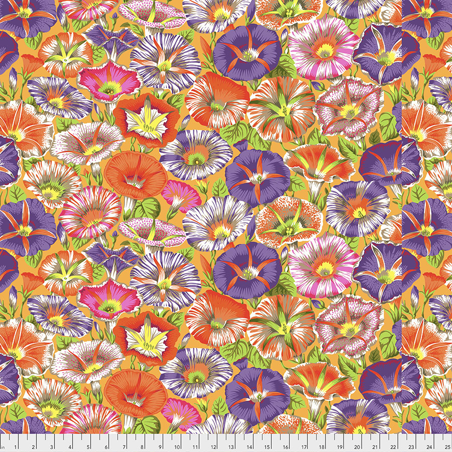 Kaffe Variegated Morning Glory - Orange