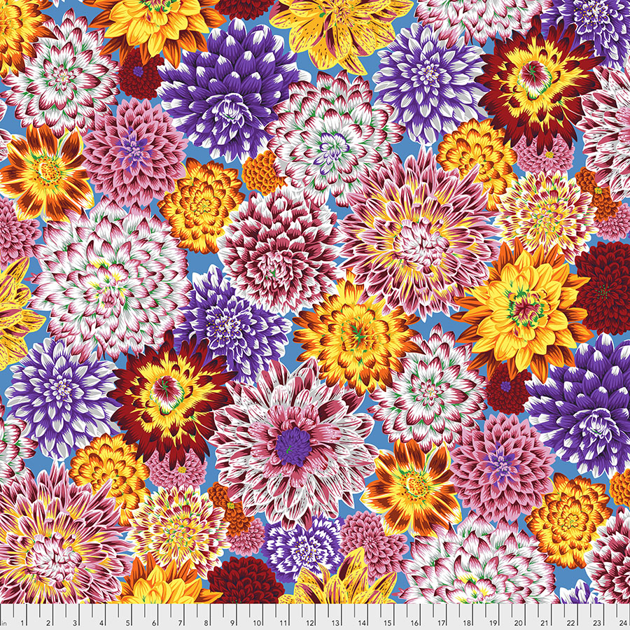 Kaffe Fassett Aug 2020 - Dancing Dahlias - Multi