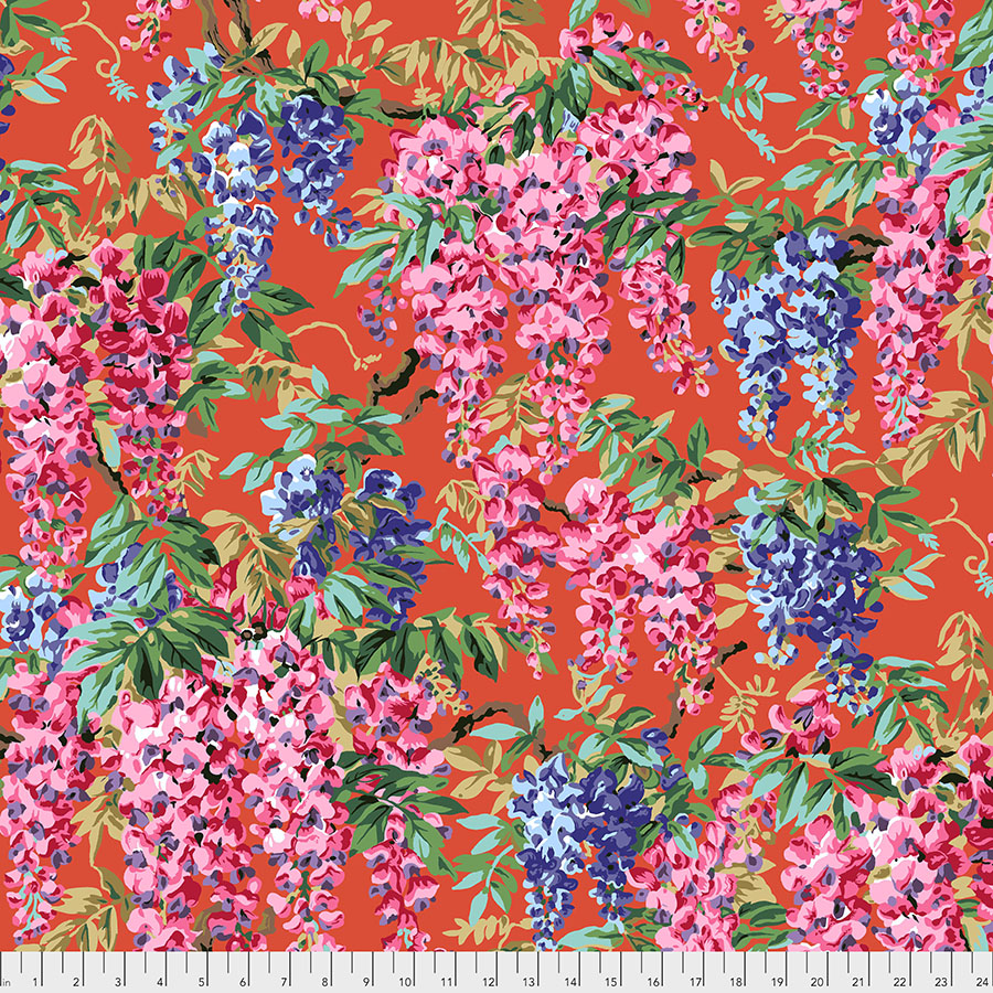Kaffe Fassett Aug 2020 - Wisteria - Red