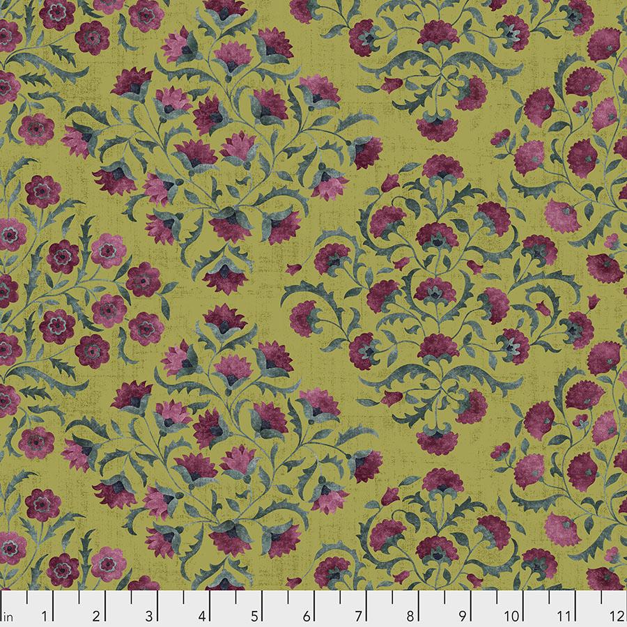 Free Spirit Cashmere Ottoman Flowers - Garden