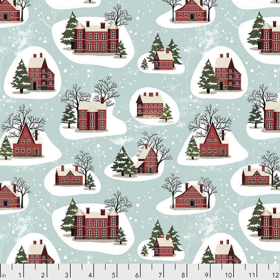 Yuletide PWTH125 Aqua - Winter Village