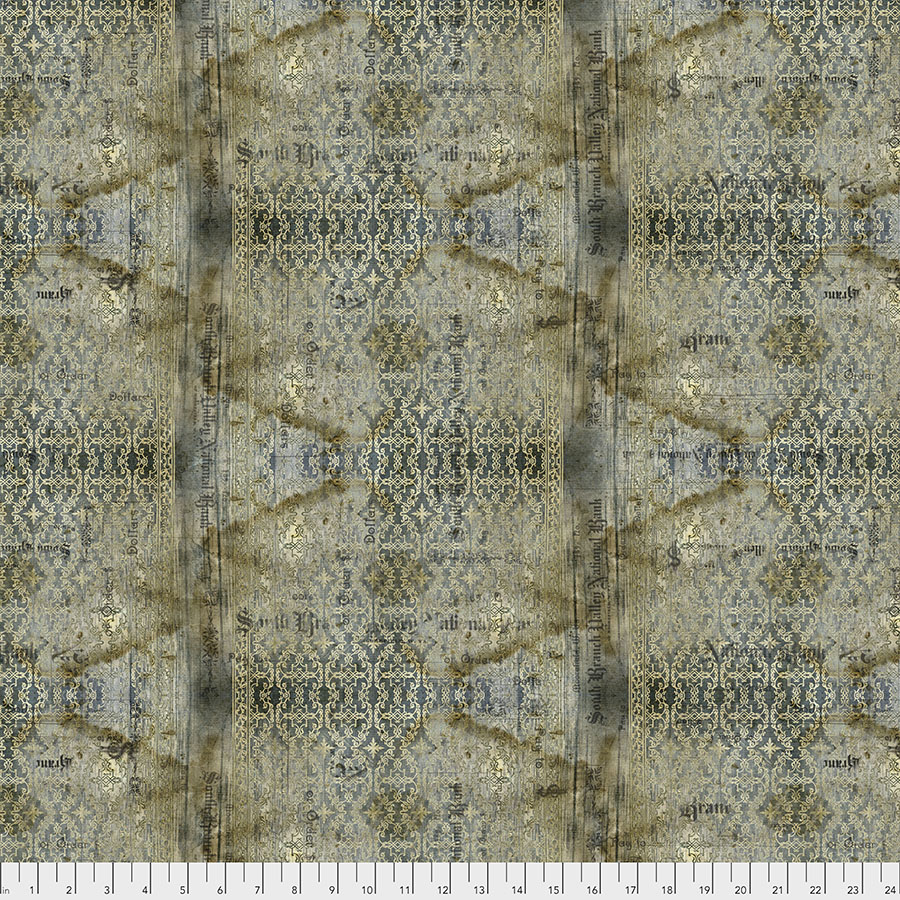Free Spirit Fabrics Abandoned PWTH133 Stained Damask - Neutral