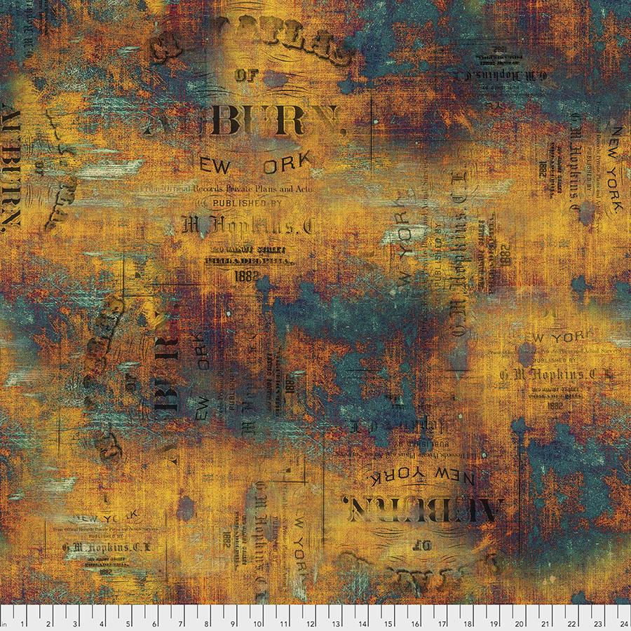 Free Spirit Fabrics Abandoned PWTH134 Urban Grunge - Patina