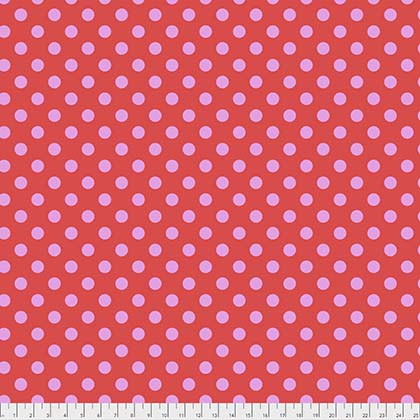 Pom Poms Fat Quarter - Poppy True Colors Collection by Tula Pink from Free Spirit Fabrics