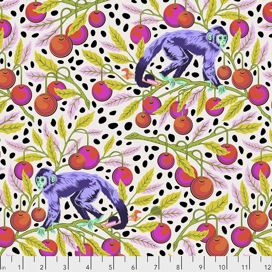 Monkey Wrench - Mango Fabric by Tula Pink