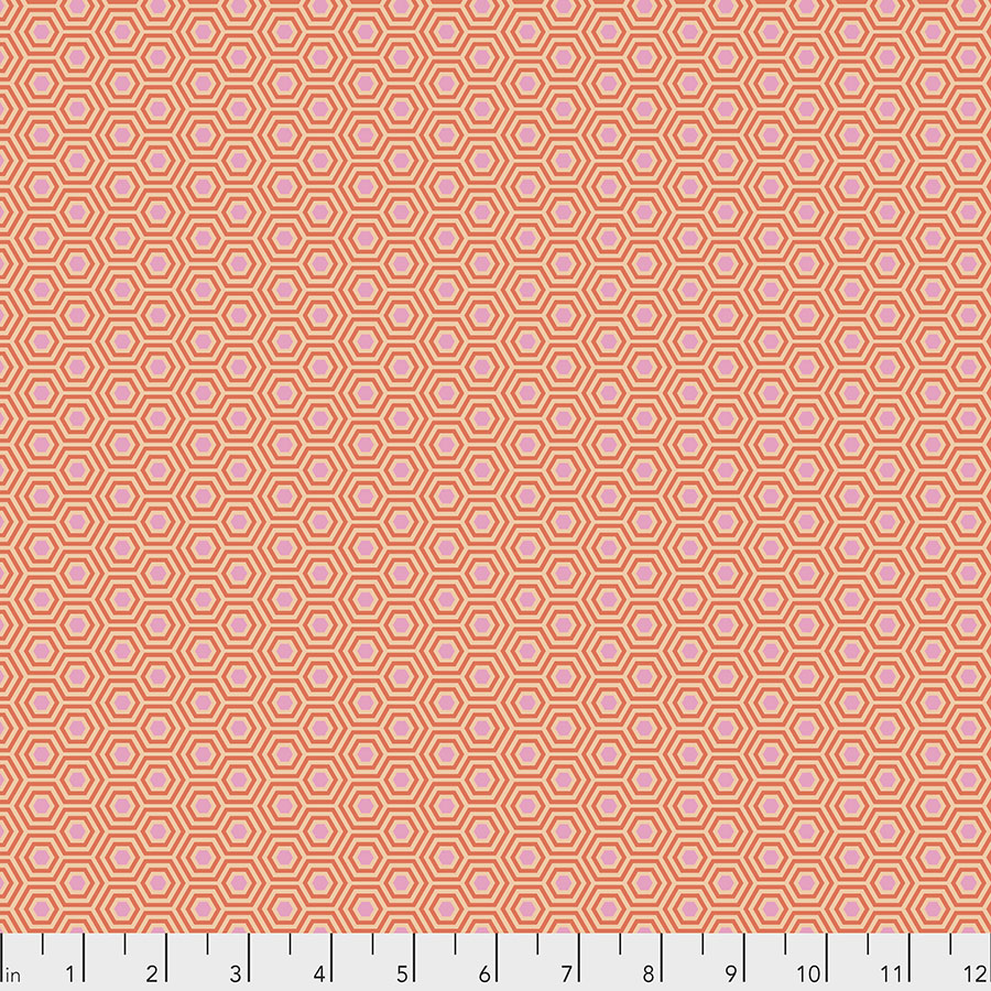 Tula Pink True Colors Hexy - Peach Blossom