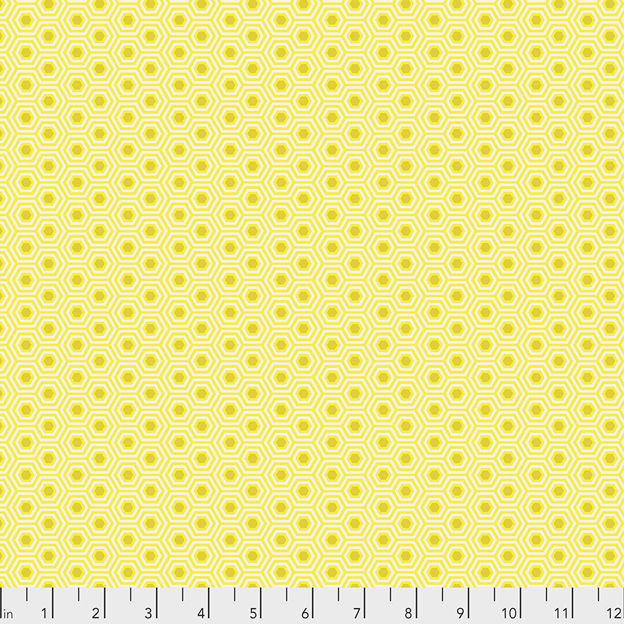 Hexy - Sunshine-True colors by Tula Pink for Free Spirit Fabrics