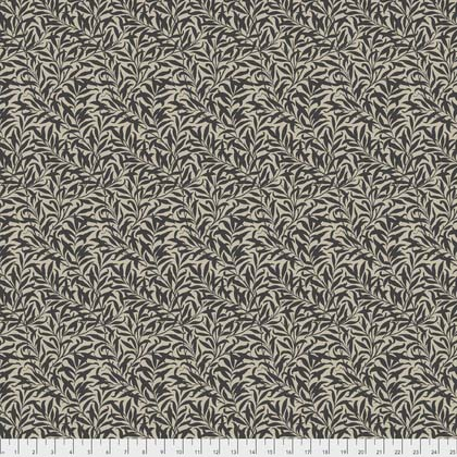 Black Willow Boughs on Tan:  Merton by Morris and Co. for FreeSpirit Fabrics