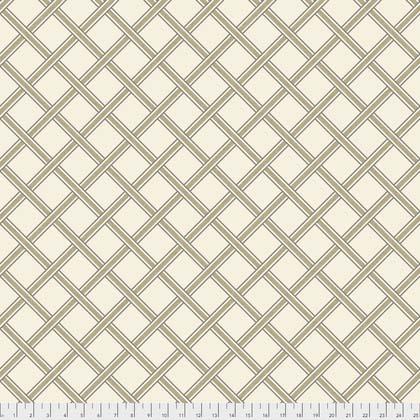 Taupe Trellis:  Merton - Gift Trellis by Morris and Co. for FreeSpirit Fabrics