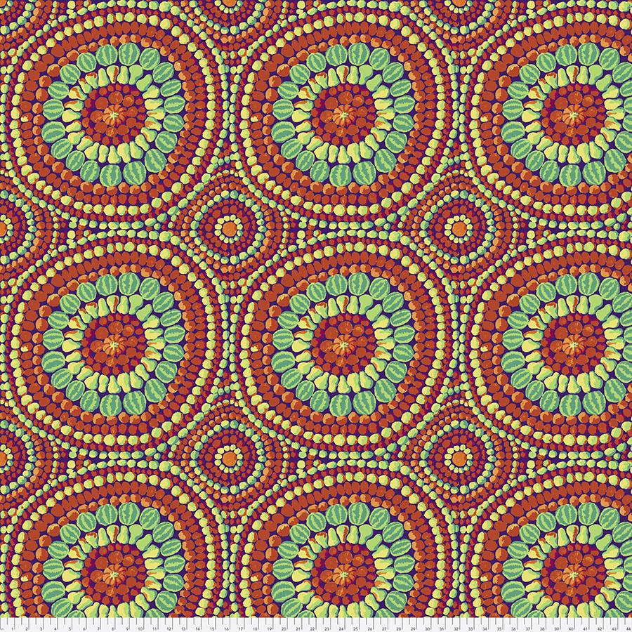 108 Wide Backing Fabric - Fruit Mandala - Red