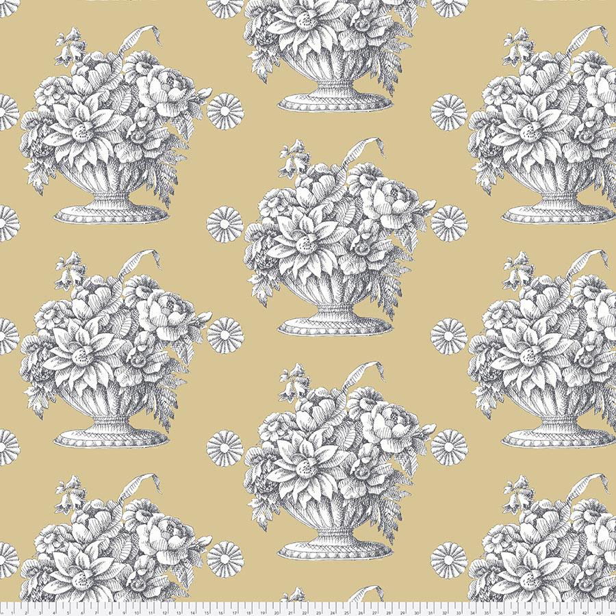 Backing Fabric - Stone Flower - Beige