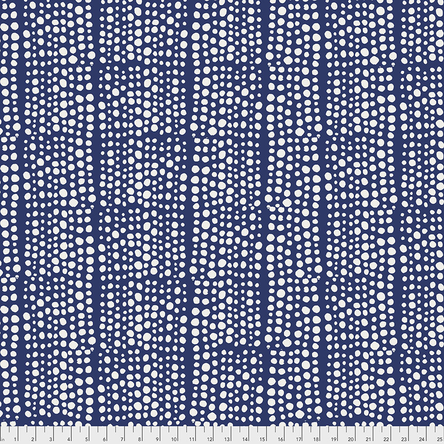Murmur Indigo Dots Backing Fabric 108 in - Valori Wells - Free Spirit