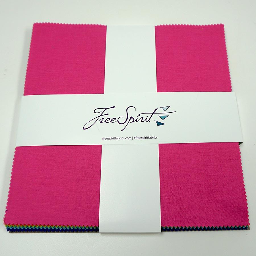 Designer Essentials-Tula Pink Solids- 10 Charm Pack