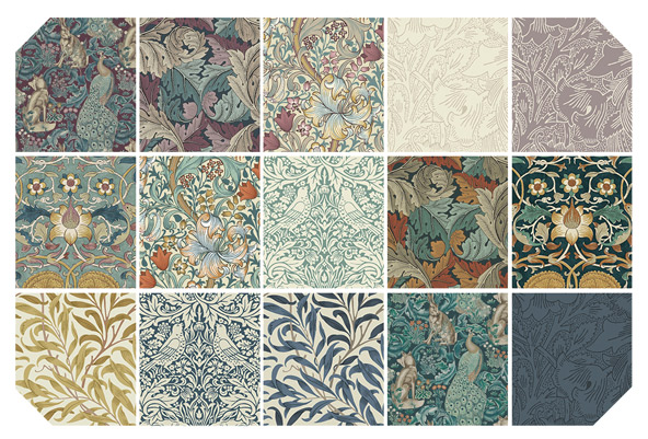Standen - 10 squares by Morris & Co