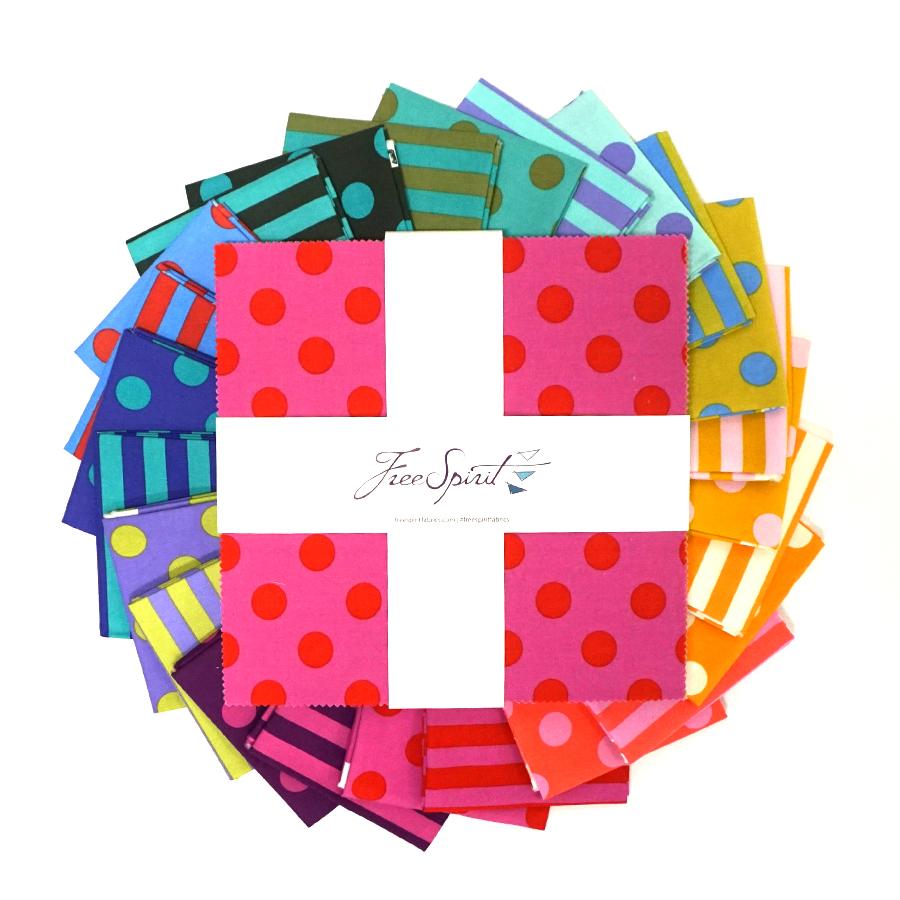 True Colors Pom Poms & Stripes - 10 Charm Pack