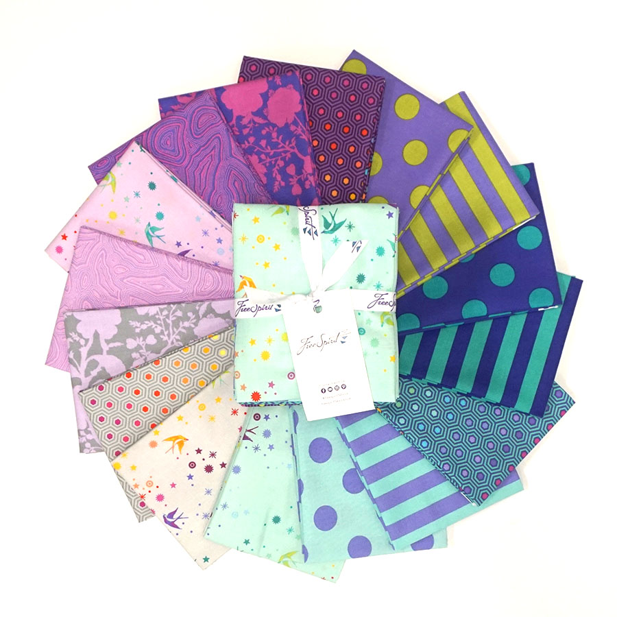 Tula Pink's True Colors Peacock Fat Quarter Bundle