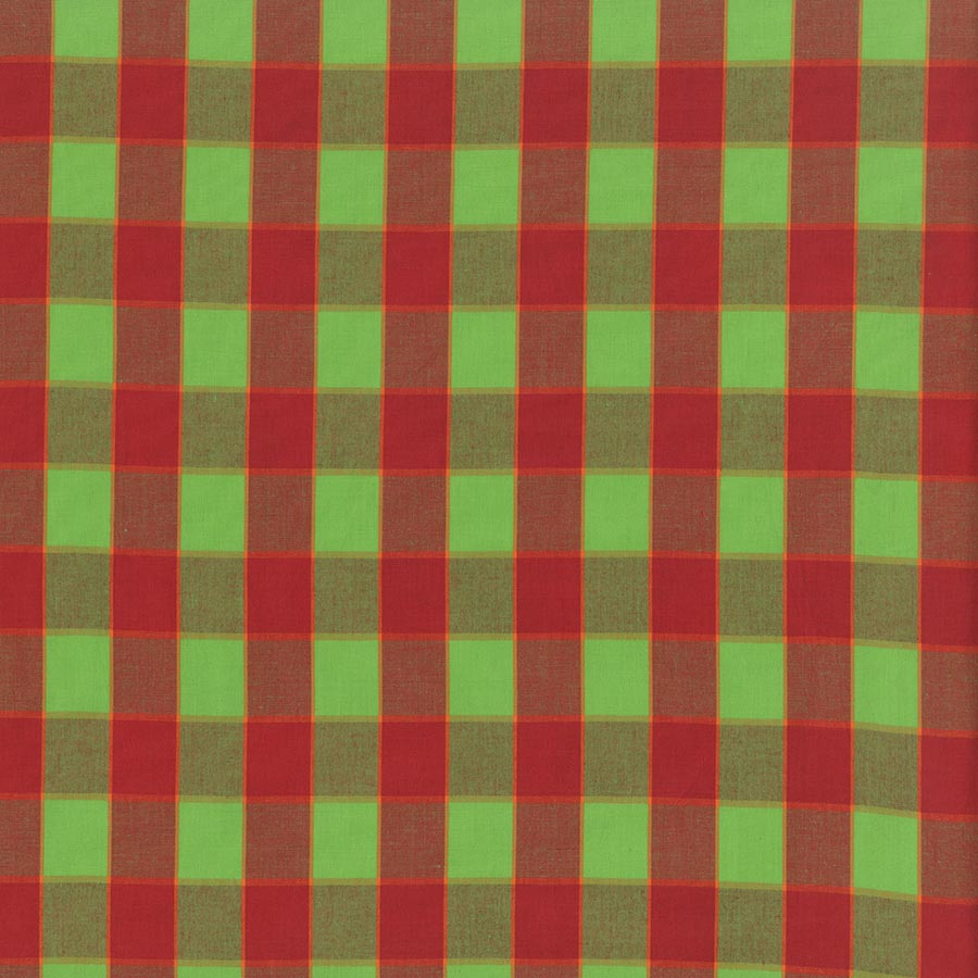 Artisan - Checkerboard Plaid Ikat - Red