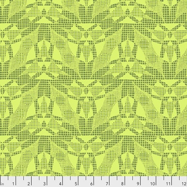 Amy Butler Natural Beauty Spider Web - Lime