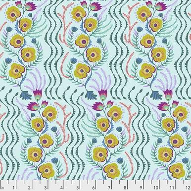 FreeSpirit Fabrics | Messages - Aqua | Tambourine | Anna Maria Horner