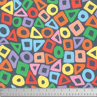 Grey Puzzle by Brandon Mably of the Kaffe Fassett Collective for FreeSpirit Fabrics