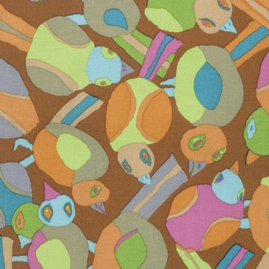 Round Robin in Brown by Brandon Mably of the Kaffe Fassett Collective for FreeSpirit Fabrics