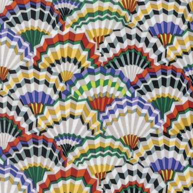Paper Fans: Contrast in White and Gold  - Kaffe Fassett Collective by FreeSpirit Fabrics