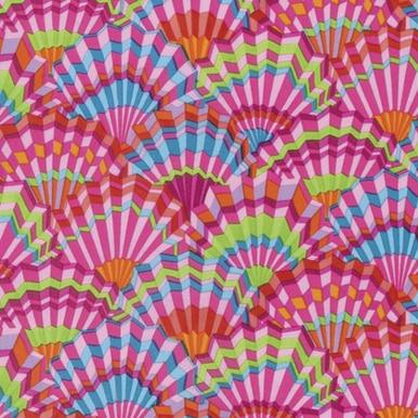 FreeSpirit Fabrics | Paper Fans - Pink| Kaffe Fassett Collective Spring 2017|Kaf...