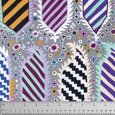Striped Heraldic on Gray - Kaffe Fassett for Rowan Fabrics