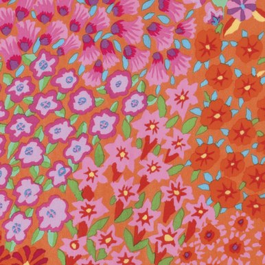 FreeSpirit Fabrics   Persian Garden - Orange  Kaffe Fassett Collective Stash Kaf...
