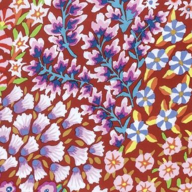 FreeSpirit Fabrics | Persian Garden - Rust| Kaffe Fassett Collective Stash|Kaffe...