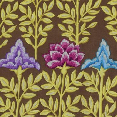 Mughal on Brown - Kaffe Fassett Collective by FreeSpirit Fabrics