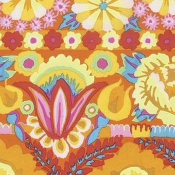 FreeSpirit Fabrics | Embroidered Flower Border - Yellow | Artisan | Kaffe Fasset...