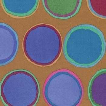 Paint Pots on Rust Brown by Artisan of Kaffe Fassett Collective for FreeSpirit Fabrics