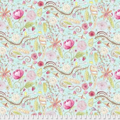 FreeSpirit Fabrics   Garden - Aqua  The Dress  Laura Heine