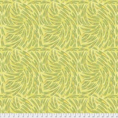 FreeSpirit Fabrics   Heart  -  Acid Green  A Bird In Hand Laura Heine