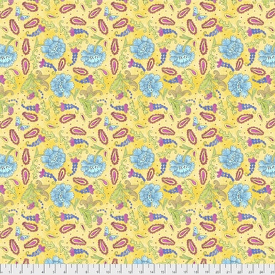 FreeSpirit Fabrics | Grapes  -  Yellow| A Bird In Hand|Laura Heine