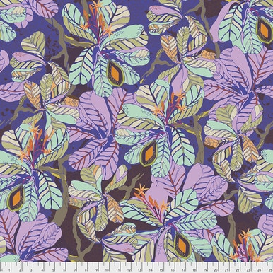 FreeSpirit Fabrics | Fig Leaf - Dusk |Seeds & Stems |Kathy Doughty