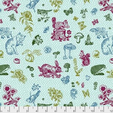 FreeSpirit Fabrics | In My Garden - Aqua |Souvenir |Nathalie Lete for Anna Maria...