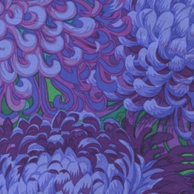 FreeSpirit Fabrics   Japanese Chrysanthemum - Purple  Kaffe Fassett Collective Classics   Kaffe Fass