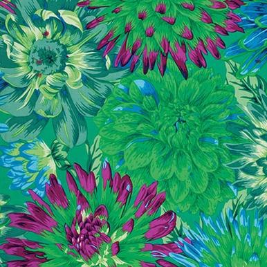 FreeSpirit Fabrics   Cactus Dahlia - Green  Kaffe Fassett Collective Stash Phili...