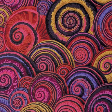 Kaffe Fassett Collective By Philip Jacobs - Spiral Shells - PWPJ073-Red