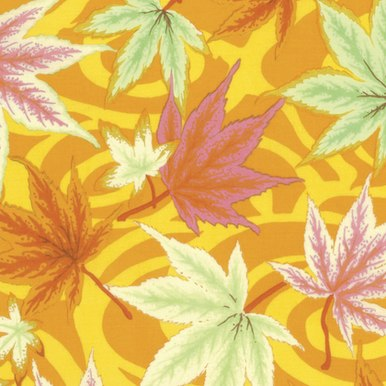 FreeSpirit Fabrics   Maple Stream - Ochre  Kaffe Fassett Collective Stash Philip...