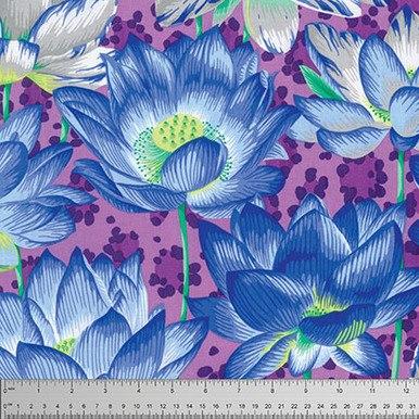 FreeSpirit Fabrics   Leopard Lotus - Purple   Kaffe Fassett Collective Stash Phi...