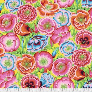 FreeSpirit Fabrics | Poppy Garden - Red| Kaffe Fassett Collective Spring 2017|Ph...