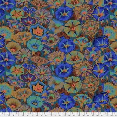 Variegated Morning Glory on Blue  - Kaffe Fassett Collective by FreeSpirit Fabrics